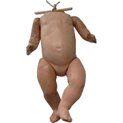 Vintage Composition and Papier Mache  Baby Doll Body
