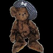 Vintage Homemade Mohair Teddy Bear