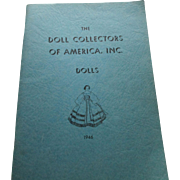 Doll Collectors Manual 1946 The Doll Collectors Of America, Inc