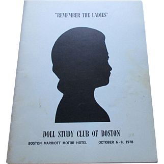 Remember The Ladies Doll Study Club Of Boston October 1978.