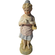 Antique Bisque Girl Doll Figure