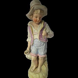 Antique Bisque Doll Figure