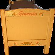 Vintage Vogue Ginnette Doll Crib 1955
