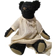 Vintage Artist Black Teddy Bear