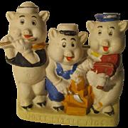 Vintage Three Little Pigs Figure From Japan