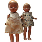 Pair of Vintage Composition Dolls