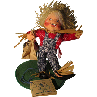Vintage Annalee Halloween Scarecrow Tick Or Treat Doll