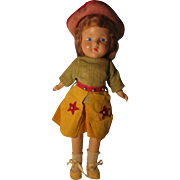 Vintage Composition Doll In Cow Girl Outfit