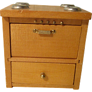 Vintage Wooden Stove For Your Miniature Doll House