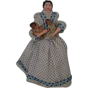 Vintage Mother Doll And Her Two Babies.