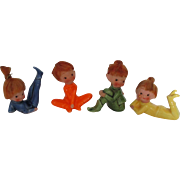 Vintage Japan Little Elf Doll Figures