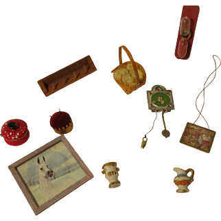 Vintage Group of Miniature House Accessories