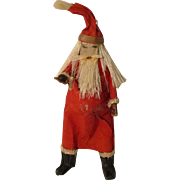 Vintage Artist Paper Mache Santa For Your Miniature Doll House