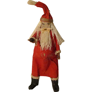 Vintage Artist Paper Mache Santa For Your Miniature Doll House