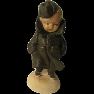 Vintage Doll Airman Marble Figure