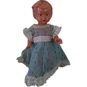 Vintage Celluloid wind-up  W. Germany Doll