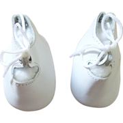 White Leather Doll Shoes.