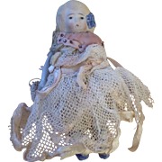 Japan Bisque Doll in lace Outfit