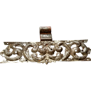 Rare Large Ornate 18th c Hand Forged and Chased Eastern European Iron Hinge