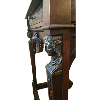 Carved 19th c Napoleon Empire stand with Bronze Mounts