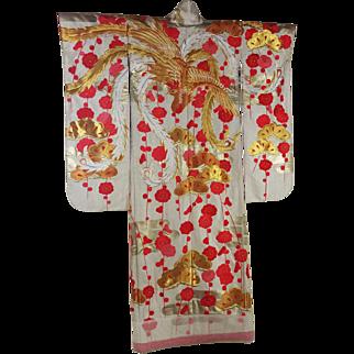 Traditional Vintage Japanese Wedding  Uchikake Kimono