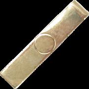 14Kt Solid Gold Tie Bar Money Clip Vintage 4 g