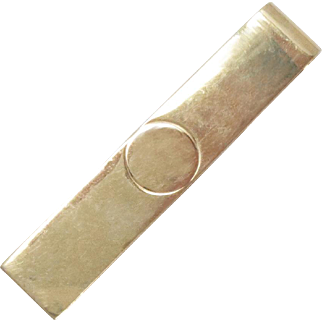 14Kt Solid Gold Tie Bar Money Clip Vintage 4 g