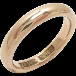 Vintage 14 Kt Gold Wedding Eternity Band Ring Size 6.25, 5.7 g Estate