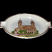 Herend Porcelain Souvenir Trinket Dish Debrecen 1960s Vintage