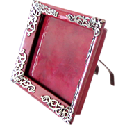 Arts and Crafts Picture Frame Copper and Silver Easel Back