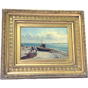 Antique Oil on Canvas James Bradley Framed Original