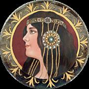 """Platter Arts and Crafts Limoges Porcelain Vintage 13.5"""" Signed"""