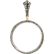 Diamond-Studded Antique Magnifying Glass