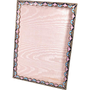 """Vintage Picture Frame Enamel Acanthus Bronze Easel Back  Large 9.5"""" x 7.75"""""""