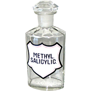 Apothecary Pharmacy Medicine Glass Bottle Original Antique 1880s