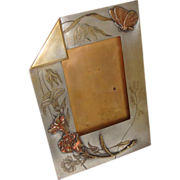 Arts & Crafts Picture Frame Copper and Brass Vintage