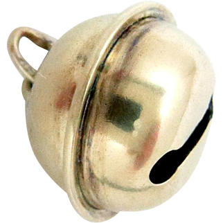 14Kt. Gold Charm Bell Baby Rattle 3D works Victorian