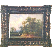 Colestin Brugner Original Oil Painting Antique 19th Century