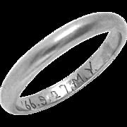 Vintage Platinum Wedding Band Eternity Ring Size 6
