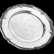 "Silver Tray Austro-Hungarian Round Vintage 13.25"" diameter 930 g"