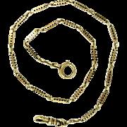 14 Kt Gold Watch Chain Enamel Vintage Art Deco