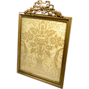Picture frame bronze dore Gilt Ormolu Empire Style Antique French