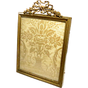 Antique French Picture Frame Bronze Gilt Empire Style