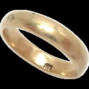 Vintage 18 Kt Gold Wedding Eternity Band Ring Size 6,25 3.8 g Estate