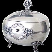 Judaica Silver Antique Etrog Box Austrian Empire Revival 451 g