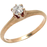 Victorian Diamond Solitaire Engagement Ring 0.15 ct