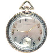 Art Deco Tiffany & Co Pocket Watch 18 Kt Gold C. H. Meylan 21jewels
