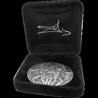 Salvador Dali Peace Silver Medal 1978