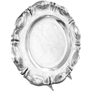 "Silver Tray Austro-Hungarian Round Vintage 10.5"" diameter, 350 g"