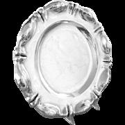 "Antique Silver Tray Round Austria Hungary 10.5"" diameter 350 g"